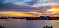 Sunset Boca Ciega Bay (vwalters10) Tags: sunset bay water buildings sky clouds florida