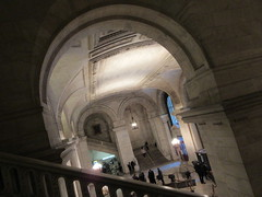 New York Public Library Entrance Hall Lobby 3637 (Brechtbug) Tags: new york public library entrance hall lobby 5th ave facade city interior stairs staircase stone marble 2019 nyc 03122019 art architecture designed by artist sculptor paul wayland bartlett carved the piccirilli brothers was two lions main branch stephen a schwarzman building consolidation astor lenox libraries beaux arts design style
