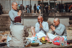 Monks of Pashupatinath (danielhibell) Tags: kathmandu nepal travel asia discover explore world street streetphotography people religion culture ambience mood buddhism hinduism colour light praying moving special