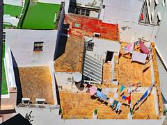 Rooftop Laundry - Cadiz, Spain (TravelsWithDan) Tags: candid rooftop laundry colors dryinginthesun sunshine springtime cadiz spain europe city urban canong3x