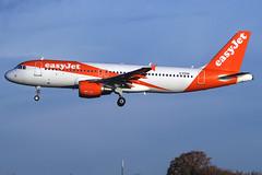 EasyJet Airline - Airbus A320-214 - G-EZUN (Andy2982) Tags: airliner easyjetairline airbusa320214 gezun cn5046 ezy602 belfastinternational liverpool landing liverpoolairport 27runway