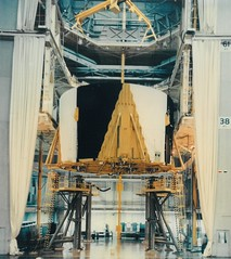 #TBT: Installation of S-IC-D in Vertical Assembly Building at Michoud – March 24, 1965 (NASA's Marshall Space Flight Center) Tags: nasa marshall space flight center msfc michoud assembly facility saturn v liquid hydrogen apollo 14