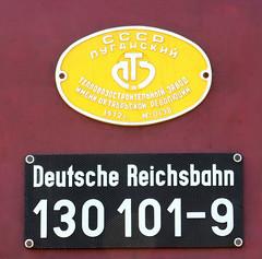 Builder's plate (Schwanzus_Longus) Tags: stasfurt german germany old classic vintage railroad railway diesel engine loco locomotive freight cargo passenger train east ddr gdr deutsche reichsbahn baureihe class br br132 232 br232 ludmilla 132