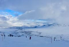 World's Northernmost Ski Resort (kevin-palmer) Tags: sweden swedishlapland europe arctic march winter snow snowy cold iphone6 riksgränsen skiresort skiing skilift clouds scandinavianmountains