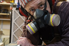 Dust and sound protection (Let Ideas Compete) Tags: airfilter family breathing selfie woodworker myself safety