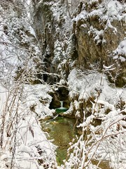 Gießenbachklamm in Winter near Kiefersfelden, Bavaria, Germany (UweBKK (α 77 on )) Tags: giesenbach giesenbachklamm klamm water flow creek bach brook winter snow ice stone rock breitenau schopperalm kiefersfelden bayern bavaria deutschland germany europe europa iphone gorge ravine