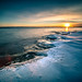 Sunset on the rocks - Helsinki, FInland - Seascape Photography