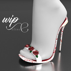 S. Valentine wip  ♥ (elise by Shanty Bookmite) Tags: shoes second life shanty bookmite sandal high heel maitreya slink belleza roses saint valentine s san valentino amore love