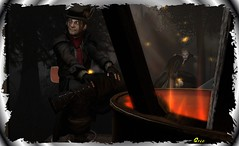 Aqualung Series ~ Discovered - Fire & Wood (0rco) Tags: gothic goth vampire atmospheric secondlife night fire