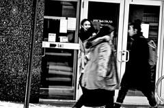 Hurry up! (Capitancapitan) Tags: hurry up people neury luciano instagram pentax storm black white new york city nyc manhattan bronx girls