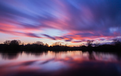 Pastel Sunset Colours (HenrySHunt) Tags: sunset longexposure river water nd1000 clouds nottingham rivertrent reflections