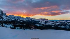 Sunset over the Alps (Nicola Pezzoli) Tags: italy italia val gardena dolomiti dolomites mountain winter alto adige snow neve nature natura bolzano sunset alpe siusi alps