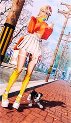 彩虹糖果套 (imp朣) Tags: secondlife second life summer cute girl angel insomnia happy glasses skirt food shoes tights kawai