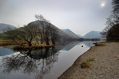 Grey Day! (vincocamm) Tags: lakedistrict cumbria calm still reflection nationalpark lake pebbles shore green brown grey rocks nikon d5500 fells hartsop hartsopdodd english england moody tranquil february winter brotherswater britain british