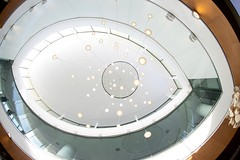 Eye (Karen_Chappell) Tags: fisheye canonef815mmf4lfisheyeusm wideangle architecture lights airport toronto travel interior white curve abstract oval geometry geometric