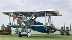 Lego Fokker D.VII (Dread Pirate Wesley) Tags: lego moc biplane airplane plane aircraft aviation fokker dvii german imperial air force world war great wwi