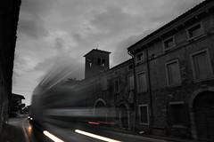 The Main Road (Coquine!) Tags: christianleyk italy italia italien trucks lastwagen schwerverkehr verkehr lorry longexposure headlights rearlights rücklichter scheinwerfer ospedaletto veneto