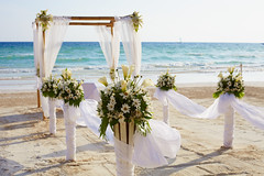 (KapEvent) Tags: wedding beach ceremony party sea decoration white romantic marriage beautiful setting nature tropical love celebration romance floral arch decor background summer formal holiday blue ocean luxury scene flower pretty day outdoor flowers russianfederation airship37