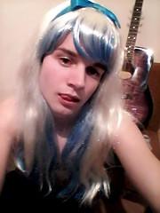 playing guitar when bored ^^ (Night Girl (my feminine side) :)) Tags: crossdress cd crossdressing cute cross dress dresser girly boy femboy feminine fun me girl