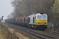 60 066 DB Cargo Class 60, Attenborough 1/3/19 (David K- IOM Pics) Tags: brush class 60 class60 db cargo corus drax attenborough diesel loco locomotive train freight 60066