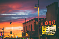 Albuquerque Sunsets (Thomas Hawk) Tags: albuquerque america lobo lobotheater newmexico route66 usa unitedstates unitedstatesofamerica neon sunset theater us fav10 fav25 fav50 fav100