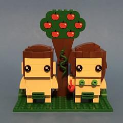 Lego Brickheadz Adam and Eve in the Garden of Eden (Max to the well) Tags: lego brickheadz adam eve garden eden apple fobidden serpent snake tree knowledge good evil