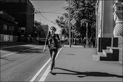 DRD160901_0818 (dmitryzhkov) Tags: urban outdoor life human social public stranger photojournalism candid street dmitryryzhkov moscow russia streetphotography people bw blackandwhite monochrome student shadow light september