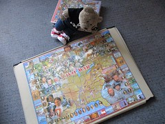 Educayshunal pussle (pefkosmad) Tags: jigsaw puzzle hobby leisure pastime complete used secondhand cardboard thecivilwar history tedricstudmuffin teddy ted bear animal toy cute cuddly plush fluffy soft stuffed whitemountainpuzzles illustration