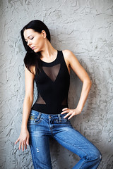 IMG_23900 (saver_ag) Tags: people portrait female indoor jeans profile