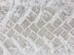 Slushy Tracks on the Road (sjrankin) Tags: 20february2019 edited snow weather winter snowbank kitahiroshima hokkaido japan tiretracks slush road