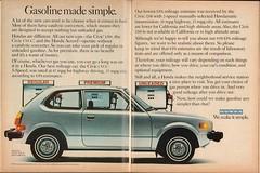 1978 Honda Civic CVCC Hatchback Advertisement Playboy August 1978 (SenseiAlan) Tags: 1978 honda civic cvcc hatchback advertisement playboy august