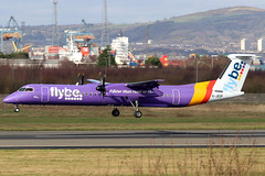G-JEDP_18 (GH@BHD) Tags: gjedp dehavilland bombardier dhc dhc8 dhc8402q dasheight be bee flybe bhd egac belfastcityairport aviation aircraft airliner turboprop