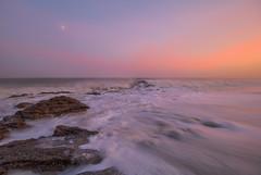 """ 1st "" (Wiffsmiff23) Tags: ogmore ogwr ogmorebysea longexposure beach heritagecoastlinesouthwales southwales waves moon foam"