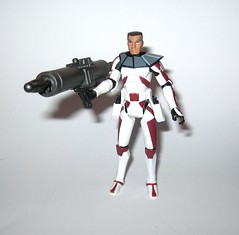 clone commander thire cw32 star wars the clone wars basic action figures red white cardback 2009 hasbro j (tjparkside) Tags: clone commander thire star wars tcw cw sw cw32 32 basic action figures figure 2009 hasbro blaster blasters rifle pistol pistols rifles removable helmet shoulder pauldron cannon missile projectile launcher rocket red white cardback packaging yoda battle droid droids toydarian system