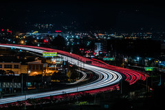 you're really late for hempcon (pbo31) Tags: bayarea california nikon d810 color march 2019 boury pbo31 night dark black over lightstream motion traffic roadway 101 highway exit ramp southsanfrancisco sanmateocounty