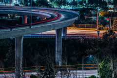 oyster point flyover (pbo31) Tags: bayarea california nikon d810 color march 2019 boury pbo31 night dark black over lightstream motion traffic roadway 101 highway exit ramp southsanfrancisco sanmateocounty