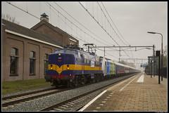 Rail Experts 1251 + BTE 186 295, Culemborg (J. Bakker) Tags: rxp rail experts 1200 1251 bte bahn touristik express 186 295 br186 traxx alpen expres 13498 culemborg nederland