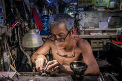 The jeweler (fredericpecheux) Tags: man work jewel jeweler pnompenh cambodge cambodia asie asia canon happyplanet asiafavorites
