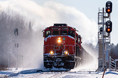 Nomi Jct (shawn_christie1970) Tags: mountainiron minnesota unitedstates us cn u788 emd sd402w winter snow train railroad canadiannationalrailway taconite ore