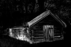"Abandoned (bobban25) Tags: wood tree grass canon eos 80d efs 18135mm f3556 is stm linköping östergötland sverige sweden scandinavia canoneos80d canon80d canonefs18135 dark mono monocrome blackandwhite bw ""artinbw cottage stuga bjäkasäby"