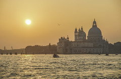Venice sunset (y.mihov, Big Thanks for more than a million views) Tags: venice venezia italy islands isle trespass travel tourist town wealth water winter wide buildings sonyalpha sightseeing sigma skyes sea stone sunset boat church europe evening architecture art