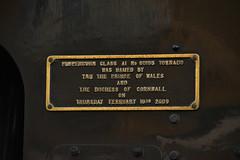 60163 Tornado - Commemorative Plaque (simmonsphotography) Tags: railway railroad nenevalley heritage preservation locomotive engine train steam uksteam 60163 tornado peppercorn a1 lner pacific newbuild nameplate wansford