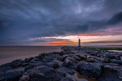 New Brighton Lighthouse (colin@thecranes.co.za) Tags: unitedkingdom lighthouse 2017 newbrightonlighthouse sunset liverpool refelction