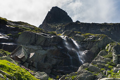 Summer waterfall at the Glacier d'Argentière (luigig75) Tags: monte bianco montblanc summer 2018 landscape glacier ghiacciai alpi alps mountains mountain montagna montagne peaks snow neve francia france sonyilce5000 sonyepz1650mmf3556oss