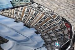 Hamburg (Lens Daemmi) Tags: bmw hamburg car motorhaube bonnet hood reflection