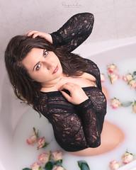 Goddess (amateur72) Tags: fujifilm xf35mm beauty girl lait milk milkbath model modèle pretty roses shooting studio xt1