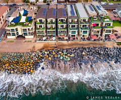 Beach Front (James Neeley) Tags: california oceanside drone beachfront waves aerialphotography jamesneeley
