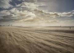 Sandstorm at Another Place (Eddie Hyde ARPS) Tags: anotherplace crosby landscape storm wind sandstorm beach mersey merseyside