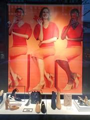 Orange Women At Aldo (Joe Shlabotnik) Tags: 2019 orange aldo cameraphone february2019 galaxys9 shoes