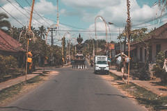 The Streets of Bali (FOXTROT|ROMEO) Tags: bali indonesia travel island summer clouds street city village ceremony church temple